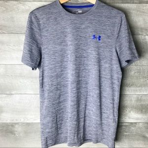 Under armour men's short sleeve gray athletic top